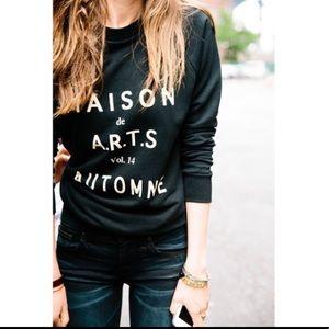 madewell • French House of Art Black  Sweatshirt
